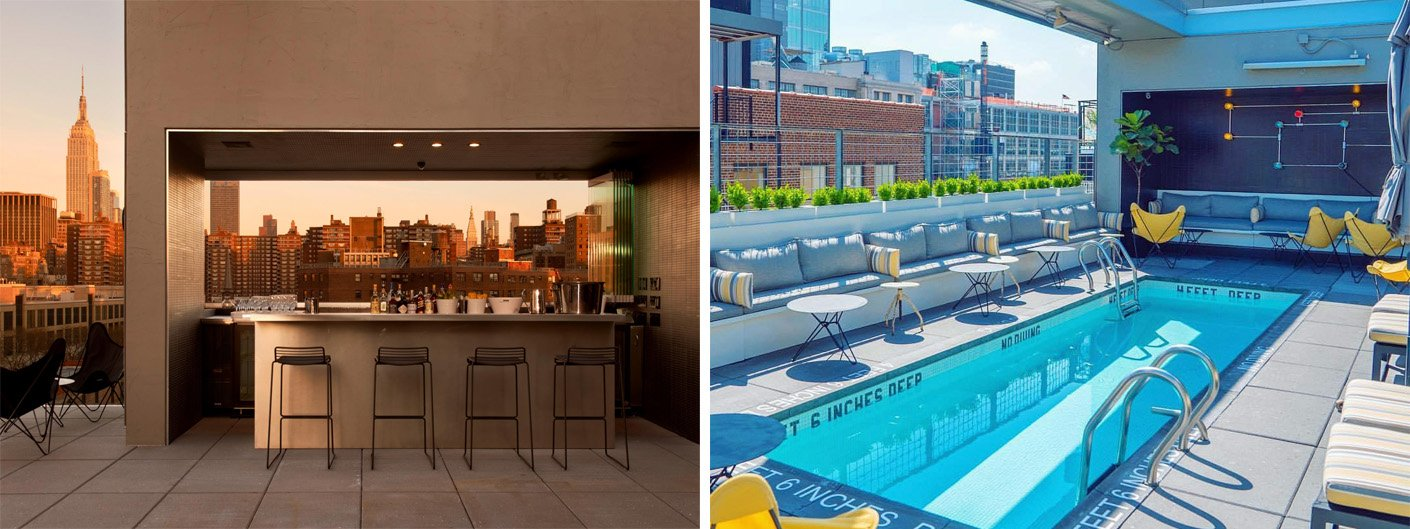 Design hotels new york new york inspiration the best for Hotel americano pool